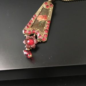 Michael Negrin Necklace BrillantRed Crystal Adjust